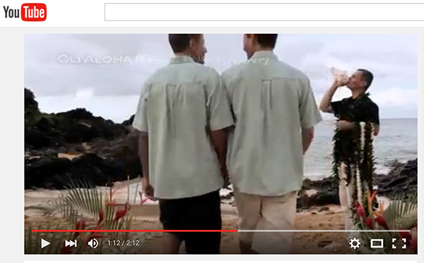 gay weddings on maui show on video